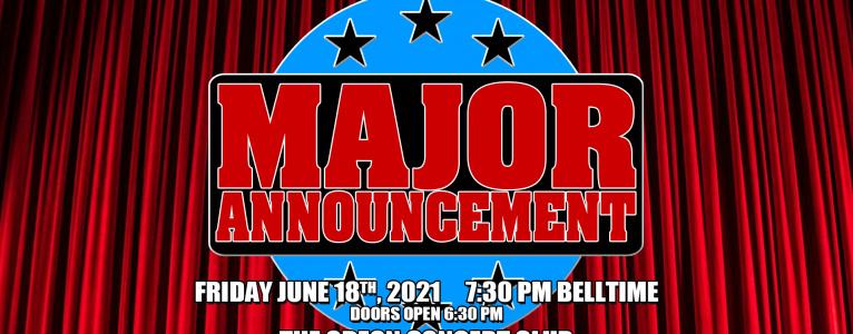 Major Announcement
